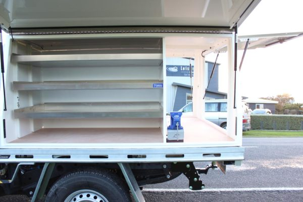 Gullwing 3-door Gullwing fitted to Uteworx flat deck with internal fitout for Parks division 1
