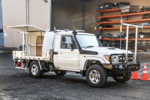 Toyota Landcruiser Drainage Fitout