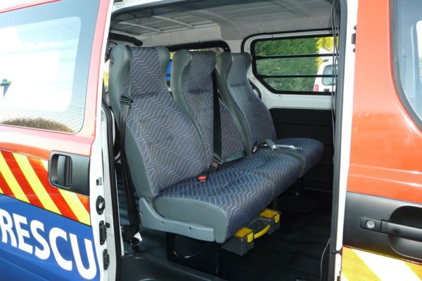 Accident response vehicle - seating