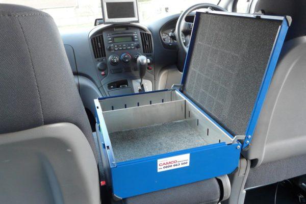Accident response vehicle - walkie talkie box 1