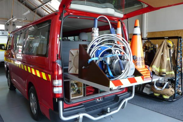 Roll-a-table accident response vehicle 2