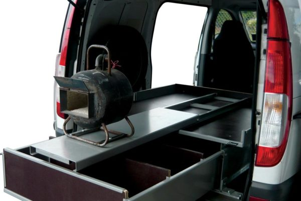 Farriers van with forge fitted to Roll-a-table