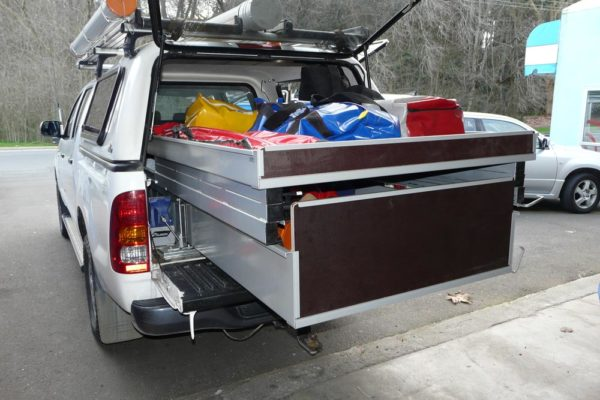 Rolaworx double drawer with height extensions to contain chainsaws etc 4