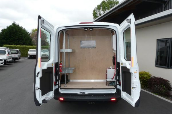 Rear section of large van