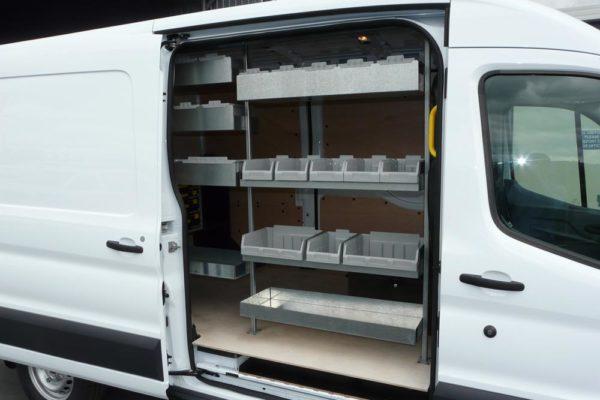 Reversed shelving units