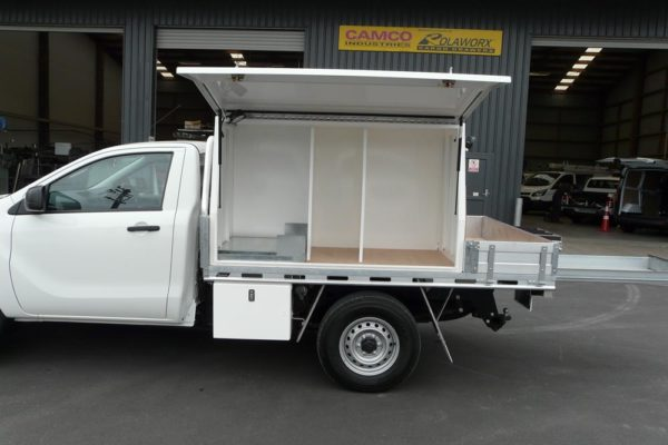 Underdeck compressor compartment for Mazda BT50 and Ford Rangert PX Single cab 2
