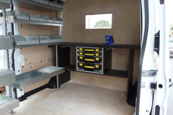 Workbench in large van