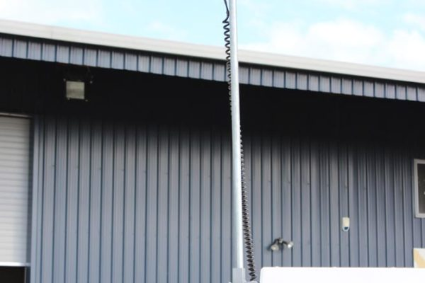 Worklight fitted on extendable pole