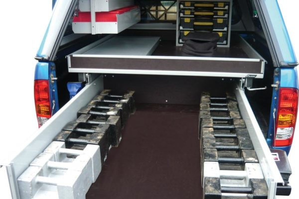 Rolaword double drawer unit