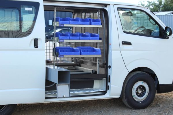 Fumigation van fitout 6 - Pestigas bottle holder