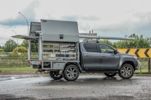 Plumbers Service Body Fitout - Toyota Hilux