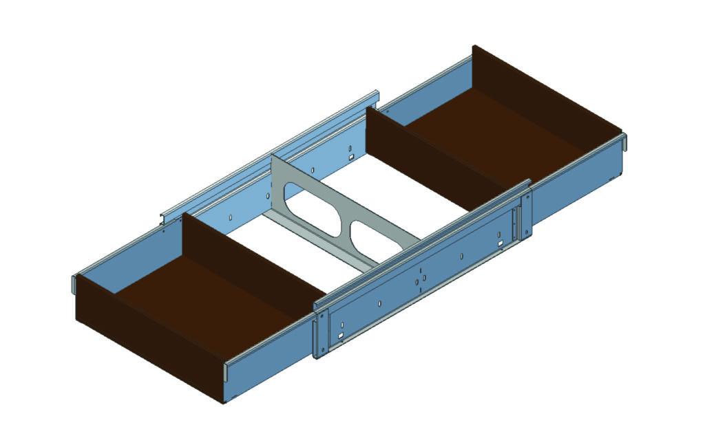 Mid Van Split Drawer
